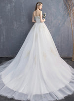 White sweet neck lace long prom dress  formal dress