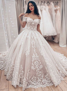 Stylish tulle lace long pro dress, off shoulder evening dress
