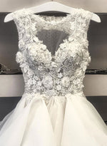 White lace tulle short prom dress homecoming dress