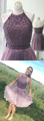 Cute round neck short prom dress, homecoming dress