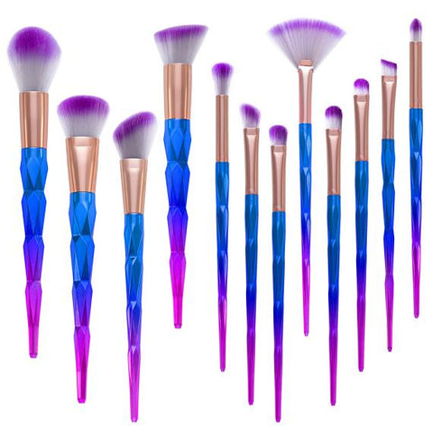 12pcs Unicorn Makeup Brush Set - SoCoDeals
