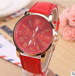 Fashion Quartz Watches Leather Strap for Women - SoCoDeals