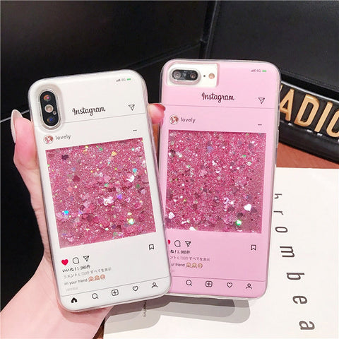 LIQUID GRAM GLITTER PHONE CASE