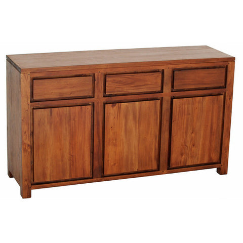 Andrea 3 Door 3 Drawer Buffet Light Pecan Color RMY238