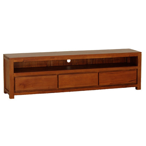 Andrea TV Console Entertainment Unit 3 Drawers in Light Pecan Color RMY238SB 004 TA