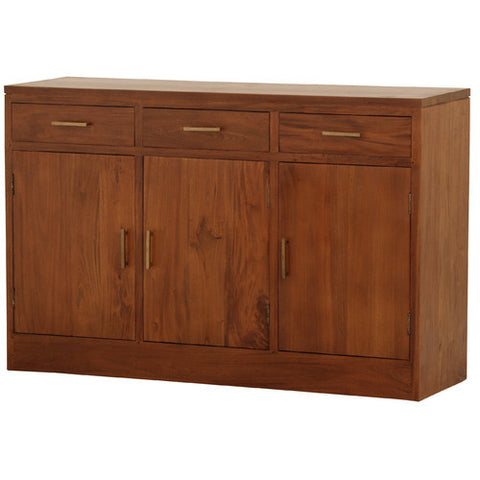 French Riviera-Paris-3-Drawer-Buffet-Light-Pecan-Color