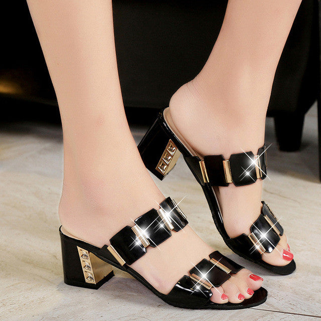 2017 Summer Flat Sandals Ladies Bohemia Beach Flip Flops Gladiator Women Shoes Sandles platform Zapatos Mujer Sandalias 5868W