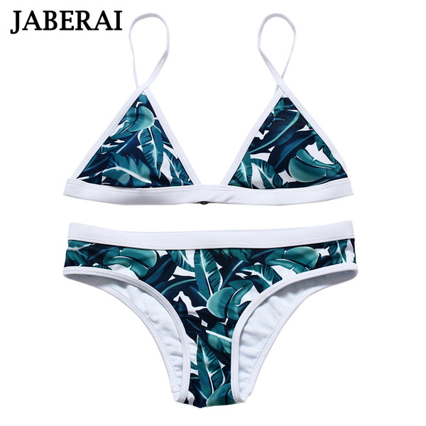 2017 New Leaf Print Bikini Brazilian Retro Bikini Swimsuits Sexy Bathing Suit Print Swimwear  Biquini Maillot De Bain Femme 15