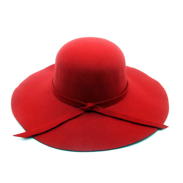 [LZFASHION] Summer fashion fedoras vintage pure Women's Beach Sun hat female waves large brim sunbonnet fedoras lady sun hat