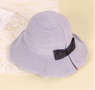 Japan The fisherman  bucket  summer cute sweet bow  foldable hat bucket hats beach hat sunscreen breathable fashion trend