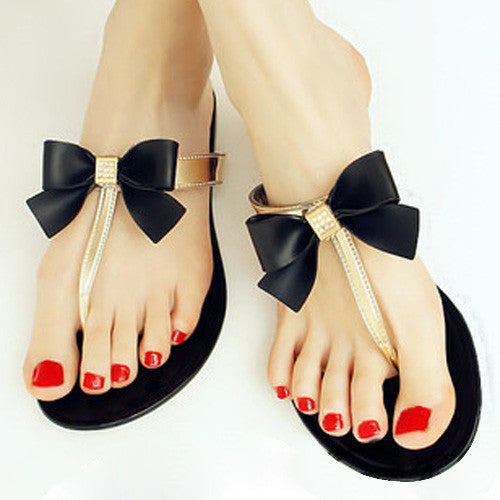 TEXU Bow Thong 2016 Women Shoes Jelly Jelly Flip Flop Sandals Women Ladies Flat Shoes Women's Shoes Sapatos new Femininos