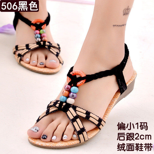 Women Shoes Women Sandals Bohemia Flip Flops Summer Flat Shoes Woman Ladies Shoes Sandalias Mujer