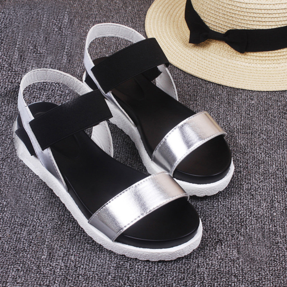 Mokingtop Women's Summer Sandals Shoes Peep-toe Low Shoes Roman Sandals Ladies Flip Flops zapatos mujer #LREW
