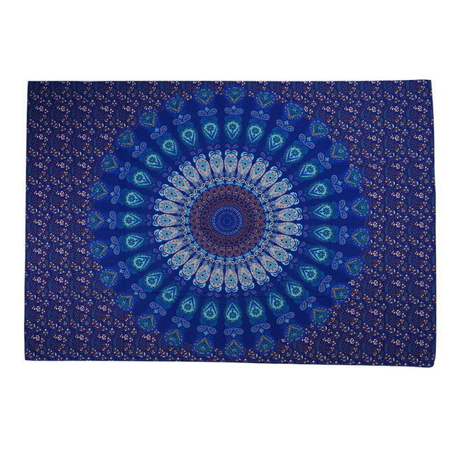 Beach towelIndian Mandala Printed tablecloth Wall Hanging Hippie Throw Bohemian Twin Bedspread MatDecor 210*150cm