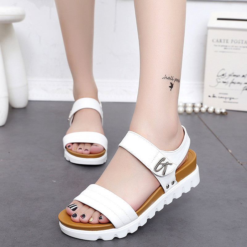 2017 High Quality Women Sandals,Women Summer Sandals Flats Shoes Roman Slipper Mujer Sandalias Ladies Flip Flops Sandals Black