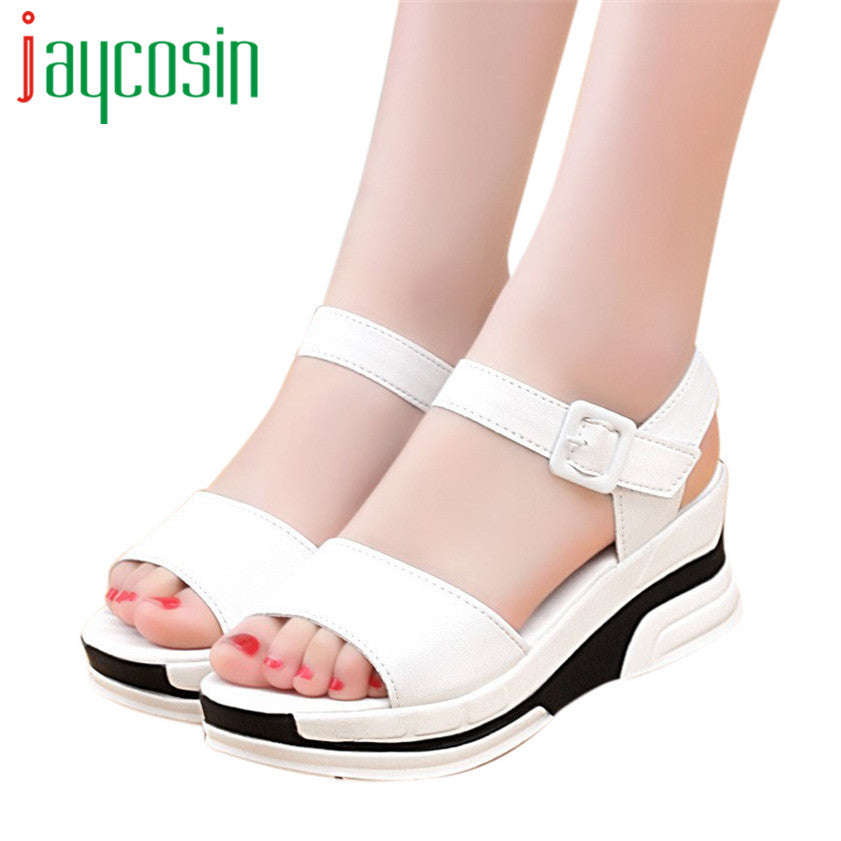 High quality Women's Summer Sandals Shoes Peep-toe Low Shoes Roman Sandals Ladies Flip Flops 170221