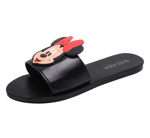 WZV Summer 2017 new female shoes women sandals recreational household slippers cartoon cute mickey lady flat sandals d409