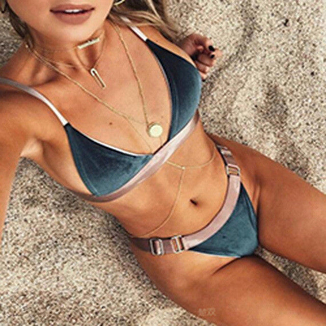 Bikini 2017 Women Swimwear Low Waist Swimsuit Bathing Suit Bikinis Women Swimwear Retro Beachwear Swimming Suit Maillot De Bain