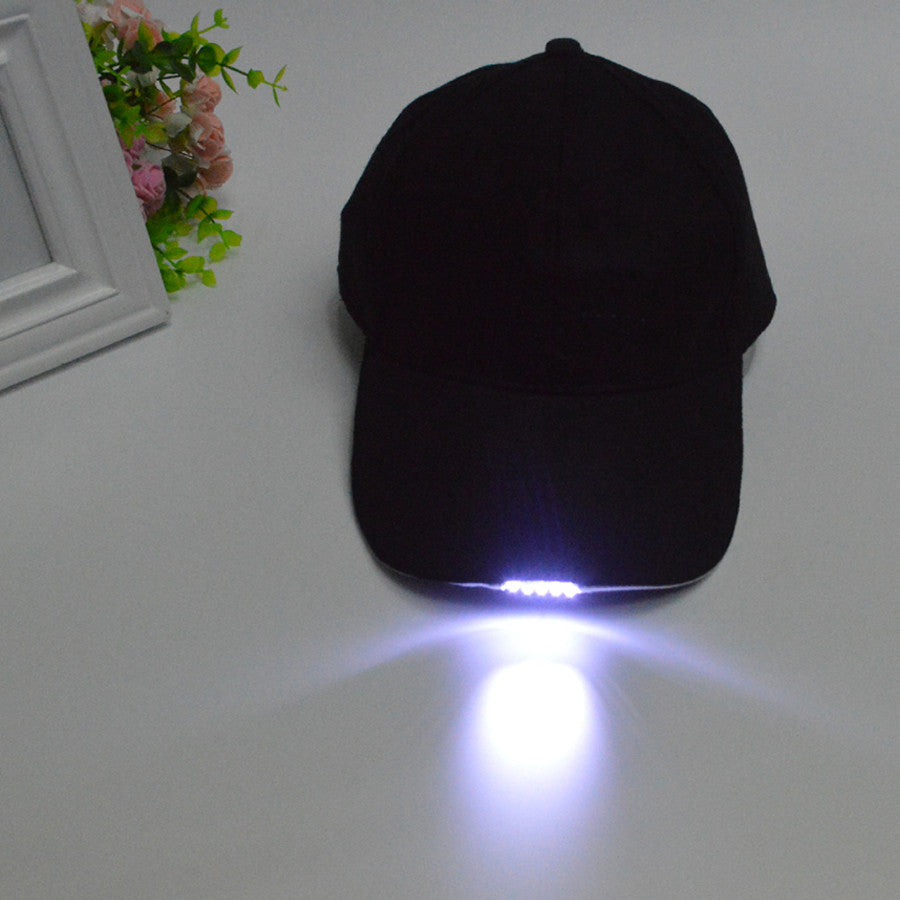 Free Shipping Black Camouflage Led Light For Cap Hat Bike Cycling Flashlight Hats For Night Walking Hiking Fishing Hunting