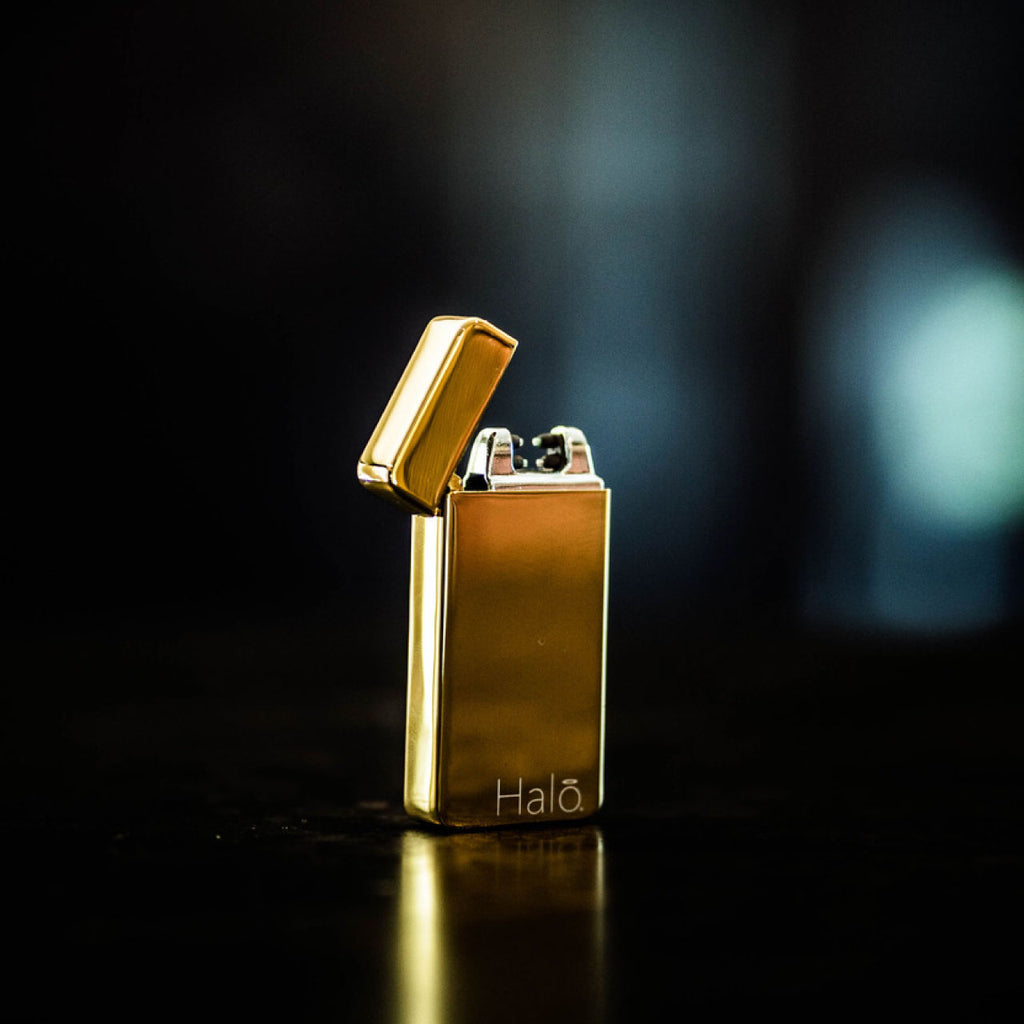 Metallic Gold Electric Plasma Dual Arc Tesla Lighter