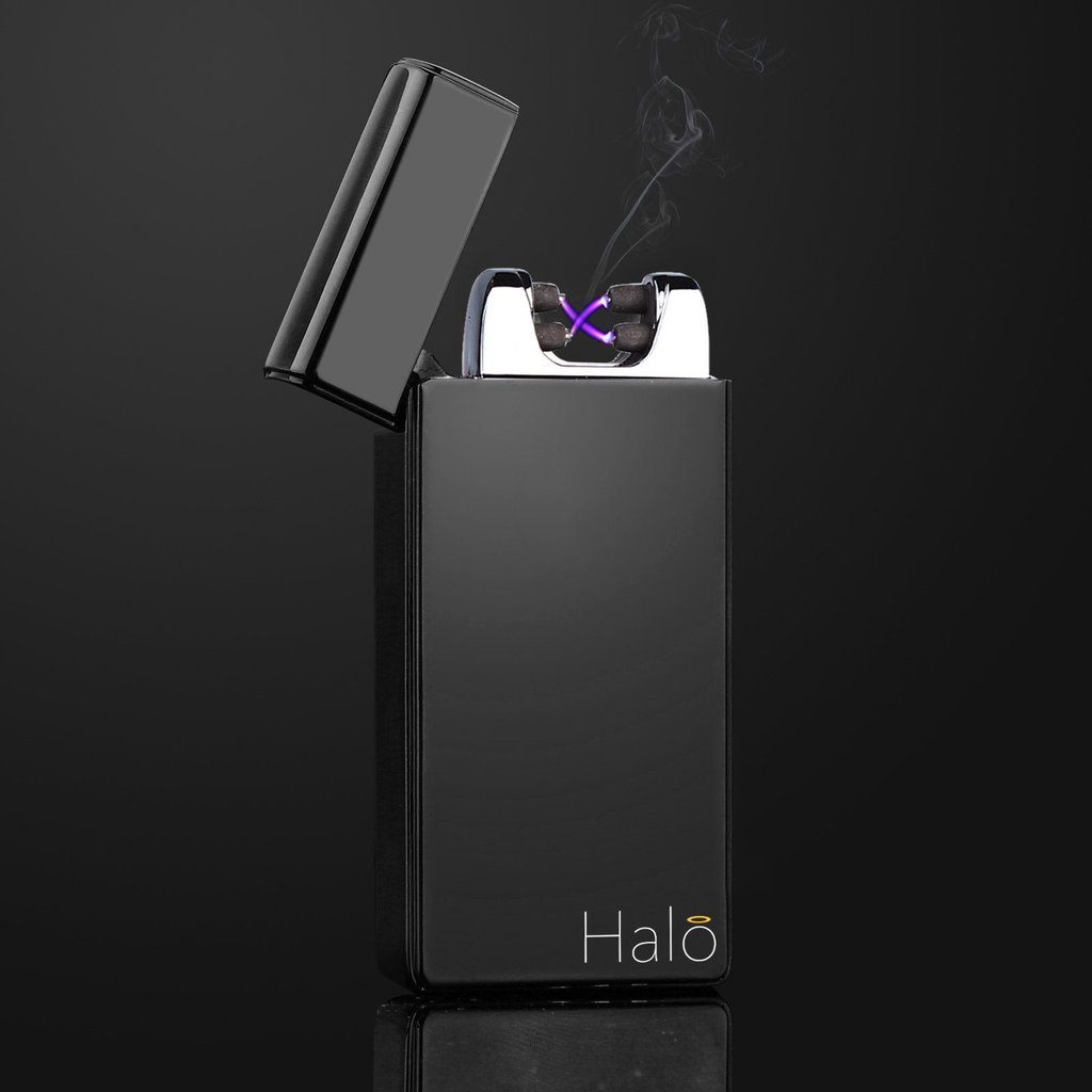 Matte Black Plasma Dual Arc Electric Lighter