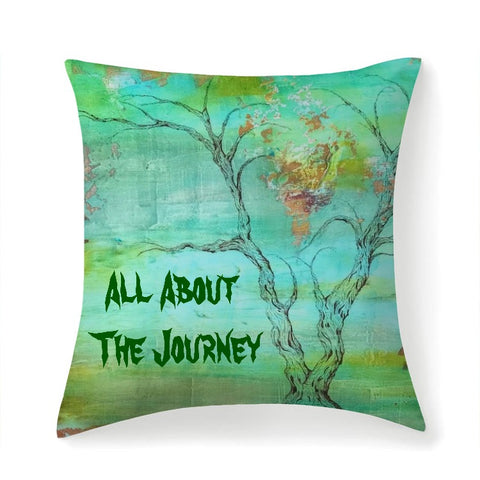 Multi sized Premium Microfiber Square Pillow with Text