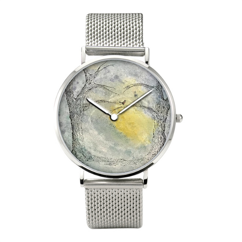 Stainless Steel Watch with Original Art Design