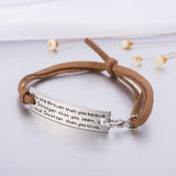 Leather Bracelet With Inspirational Quote