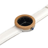 Classic Women's Bamboo Wood Watch Black Dial