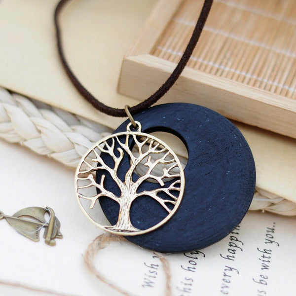 New Wood Pendant Necklace - mytreestore