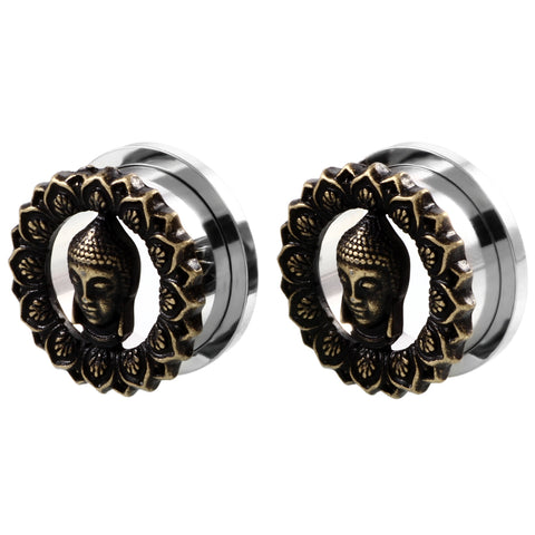 Stainless Steel Buddha Ear Plugs