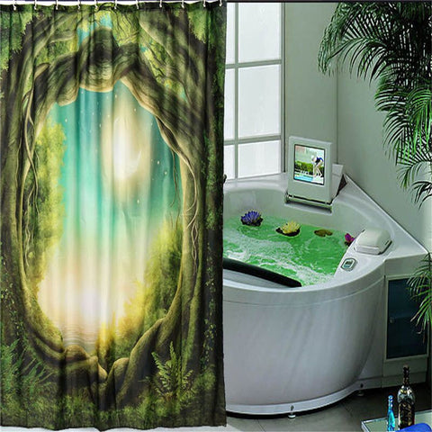 Green Tree Design Shower Curtain - mytreestore