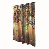 Twisted Tree Waterproof Shower Curtain with beautiful falls colors