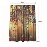 Big Tree Pattern Waterproof Shower Curtain - mytreestore
