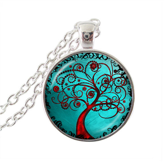 Tree Image Pendant Necklace - mytreestore