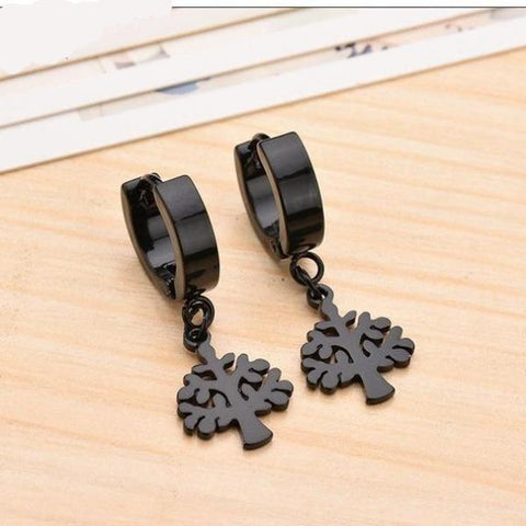 Adorable Tree Earrings Black or Silver