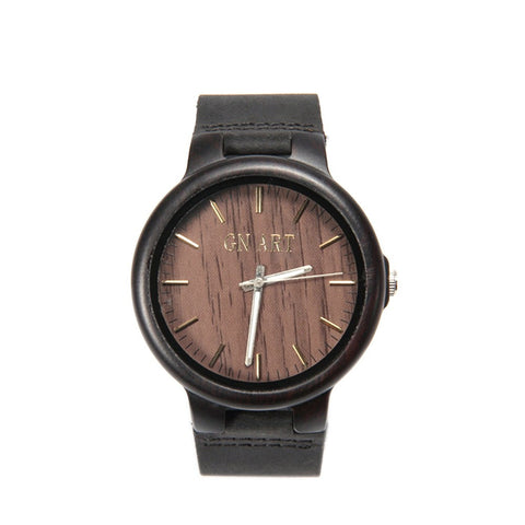 """Rajani"" Natural Wooden Watch in Black"