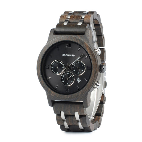 New Arrival  Wood and Metal Design Luxury Timepiece