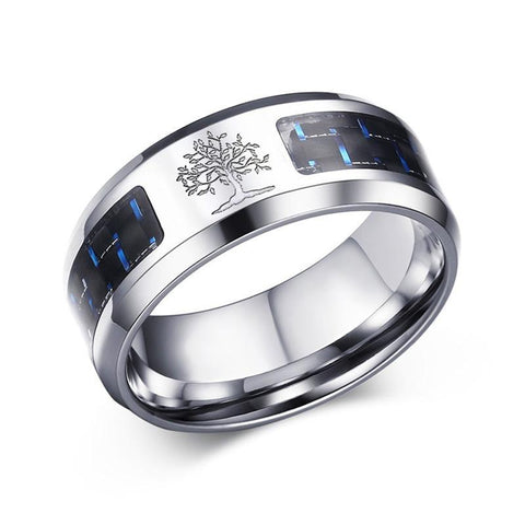 Carbon Fiber and Stainless Steel Ring