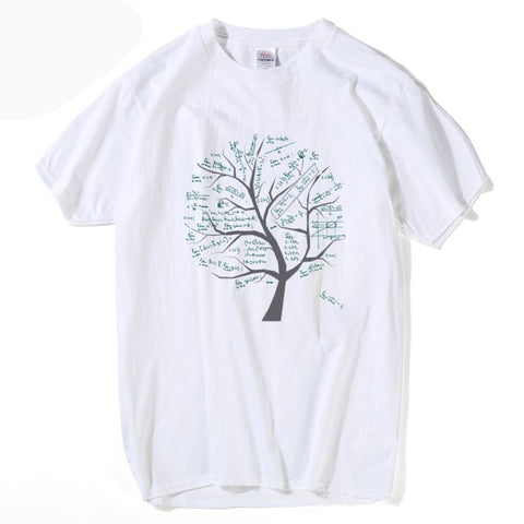 Mathematical Formula Tree Printed T Shirt - mytreestore