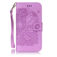 3D Embossing Flower Wallet Leather Flip Case For Apple iphone 7 6 6s Plus SE 5 5s Cover Coque Fundas Multi-functional Phone Bags