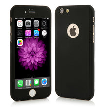 360 Case For iphone 7 6 6s Plus Cover Luxury Hard PC Full Body Protective Shockproof Armor Phone Cases Free Glass Screen Film