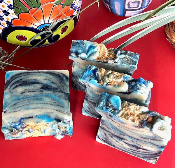 Gold Coast Soap, Citrus & Fresh Bamboo Scented Handmade Soap, Oatmeal Soap, Goats Milk Soap, Vegan Activated Charcoal Soap, Artisan Soap