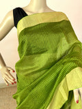 LEAF GREEN COTTON SILK SAREE