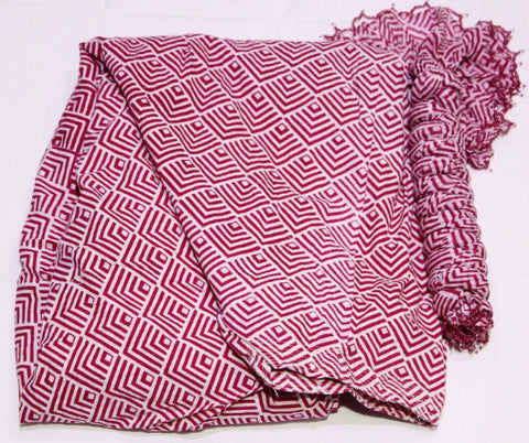 PINK PRINTED COTTON FULL PATIALA