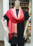 TRENDY RED HANDLOOM WOVEN STOLES