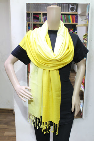 TRENDY YELLOW HANDLOOM WOVEN STOLES