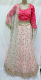PINK CROP TOP WITH HEAVY ZARDOSI WORK SKIRT  STITCHED PARTY WEAR LEHANGA