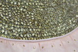 LIGHT PEACH  SILK WITH KUNDAN NECK WORK STITCHED PARTY WEAR