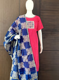 DARK PINK COTTON UNSTITCHED SALWAR